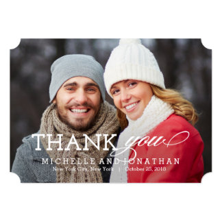 Cartões de agradecimentos simplesmente intemporais convite 12.7 x 17.78cm