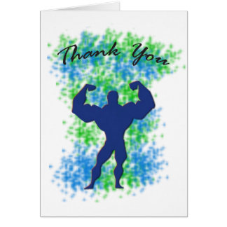 Cartões de agradecimentos - super-herói masculino