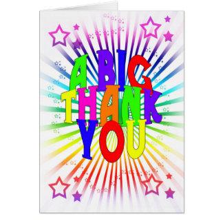 Cartões de agradecimentos - um obrigado grande voc