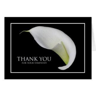 Cartões de agradecimentos vazios da simpatia --