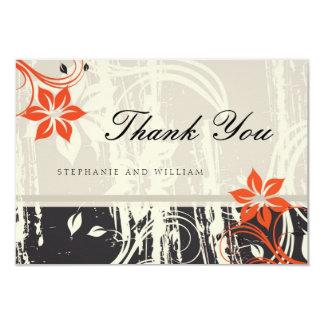 Cartões de agradecimentos vermelhos do casamento convite 8.89 x 12.7cm