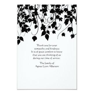 Cartões de agradecimentos Weeping do falecimento Convite 8.89 X 12.7cm