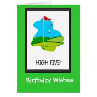 Cartões de aniversário Golfing, o furo final