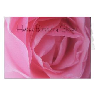 Cartões de aniversários da irmã cartão comemorativo