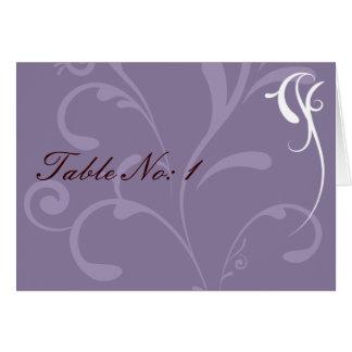 Cartões de casamento elegantes roxos