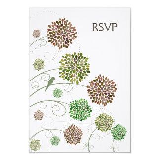 Cartões de casamento irrisórios do jardim da dália convite personalizados