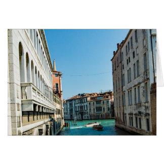 Cartões de cumprimentos de Veneza - canal Venetian