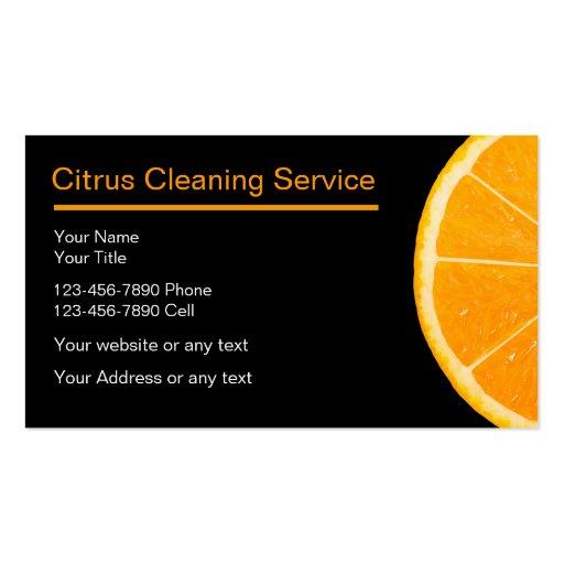 Cartões de empresa de serviços da limpeza cartões de visita