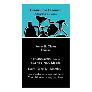 Cartões de empresa de serviços da limpeza cartão de visita
