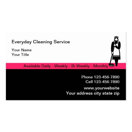 Cartões de empresa de serviços da limpeza modelo cartão de visita