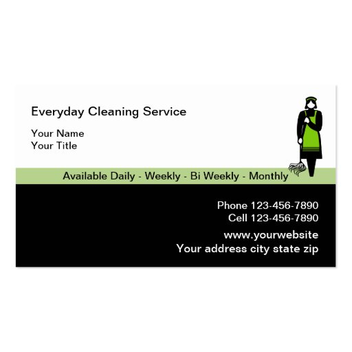 Cartões de empresa de serviços da limpeza cartao de visita