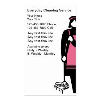 Cartões de empresa de serviços da limpeza modelos cartao de visita
