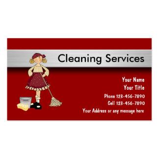 Cartões de empresa de serviços da limpeza cartões de visitas