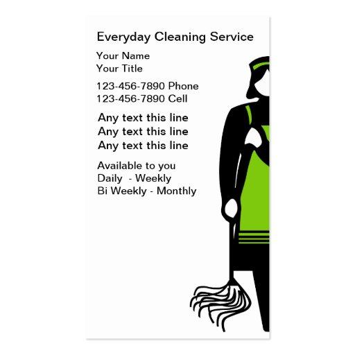 Cartões de empresa de serviços da limpeza cartoes de visita