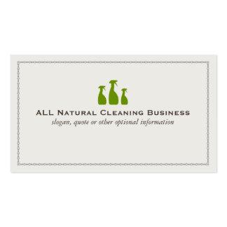 Cartões de empresa de serviços naturais da limpeza cartão de visita