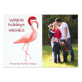 Cartões de foto de Natal com o chapéu engraçado do Convite 12.7 X 17.78cm