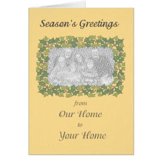 Cartões de foto de Natal customizáveis - beira do