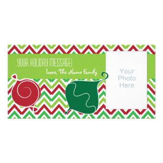Cartões de foto de Natal customizáveis com ornamen Cartao Com Fotos Personalizado