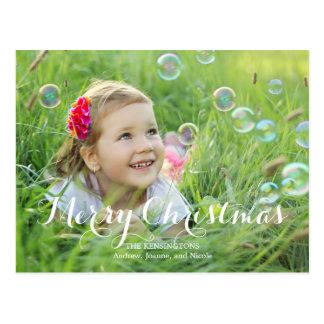 Cartões de foto de Natal esplêndidos do roteiro