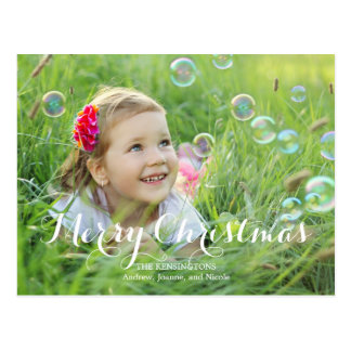 Cartões de foto de Natal esplêndidos do roteiro Cartão Postal