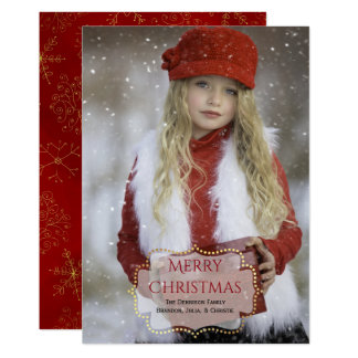 Cartões de foto de Natal feitos sob encomenda Convite 12.7 X 17.78cm