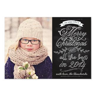 Cartões de foto de Natal modernos elegantes do Convite 12.7 X 17.78cm