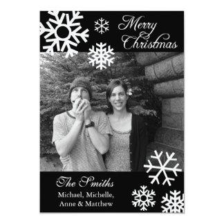 Cartões de foto de Natal múltiplos dos flocos de