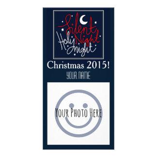 Cartões de foto de Natal silenciosos da noite Cartão Com Foto