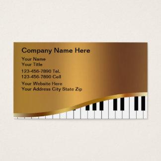 Cartões de indústria musical cartão de visita