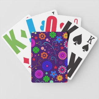 Cartões de jogo abstratos florais jogos de baralho