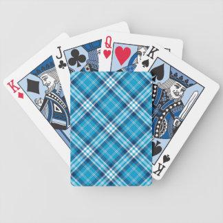 Cartões de jogo azuis da xadrez jogos de baralho