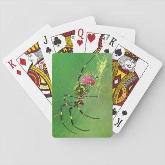 Cartões de jogo clássicos da aranha dourada do jogo de carta