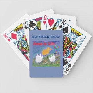 Cartões de jogo cristãos de Jesus da igreja cura Jogos De Baralhos