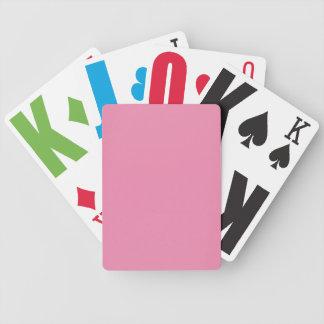 Cartões de jogo customizáveis cor-de-rosa modernos baralho para truco