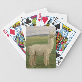 Cartões de jogo da alpaca baralhos para pôquer