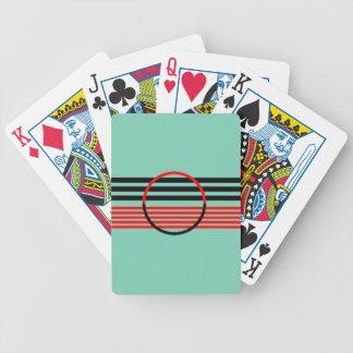Cartões de jogo da bicicleta com design do art jogos de cartas