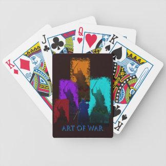Cartões de jogo da estratégia militar baralhos para pôquer