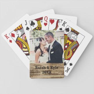 Cartões de jogo da foto do casamento jogo de baralho