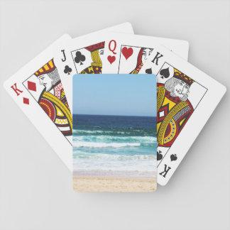 Cartões de jogo da praia jogos de baralhos