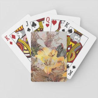 Cartões de jogo das flores do Alstroemeria Jogos De Baralhos
