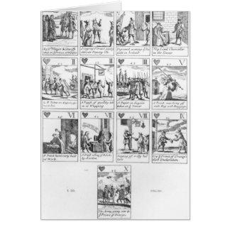 cartões de jogo do Anti-católico que comemoram