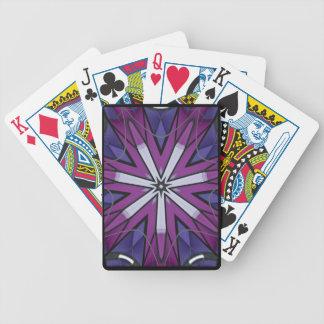 Cartões de jogo do caleidoscópio do papagaio de baralho para truco