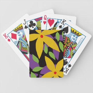 Cartões de jogo do design floral da bicicleta jogos de baralho