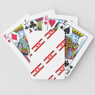 Cartões de jogo do dominó de Canadá Cartas De Baralhos
