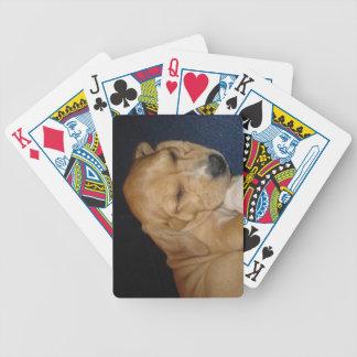 Cartões de jogo do filhote de cachorro do sono cartas de baralho