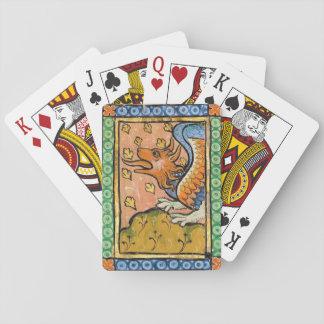 Cartões de jogo do fogo do dragão jogo de baralho