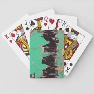 Cartões de jogo do nativo americano baralhos