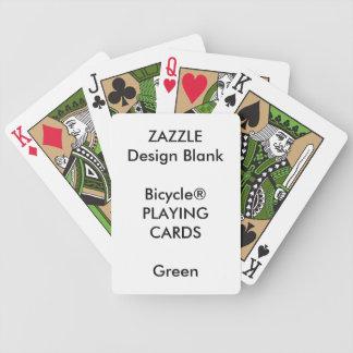 Cartões de jogo feitos sob encomenda do VERDE de Jogos De Cartas