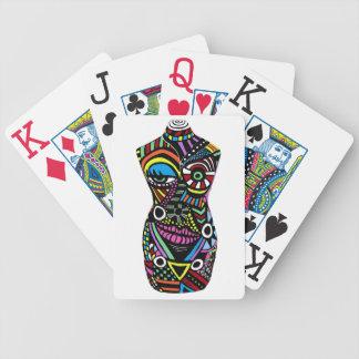 Cartões de jogo loucos do pintinho cartas de baralho