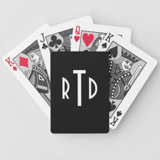 Cartões de jogo Monogrammed Baralhos Para Pôquer